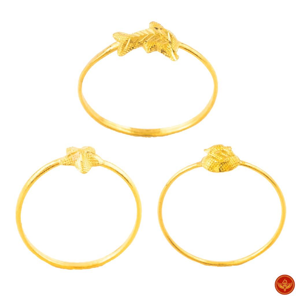 [ทองคำแท้] LSW แหวนทองคำแท้ 0.4 กรัม ราคาพิเศษ มาพร้อมใบรับประกัน (FLASH SALE)