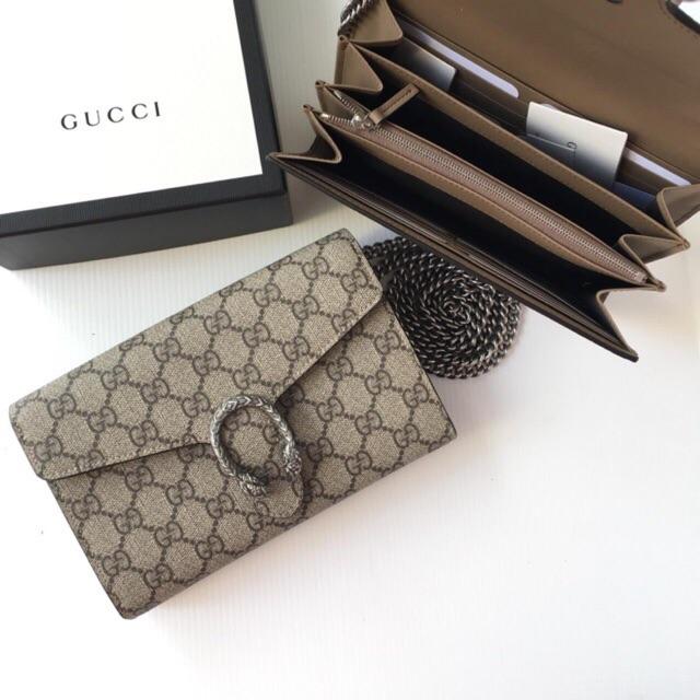 กระเป๋าแท้ของแท้ 100% ถูกที่สุดใน Shopee Gucci Dionysus Woc