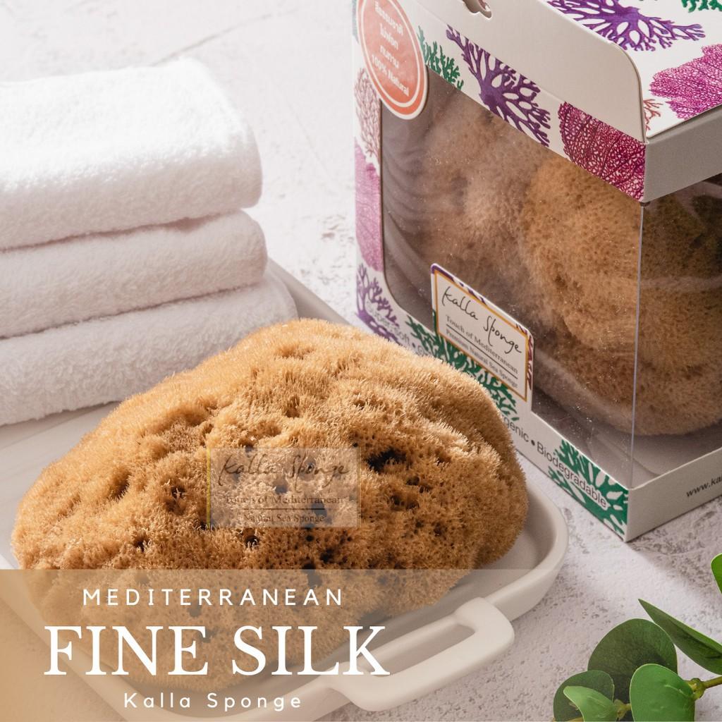 สินค้าเฉพาะจุด、ผ้าเช็ดทำความสะอาด、เจลล้างมือเด็ก、แชมพูเด็ก、เจลอาบน้ำเด็กฟองน้ำธรรมชาติ KALLA SPONGE ชนิด Fine Silk สีน้ำ