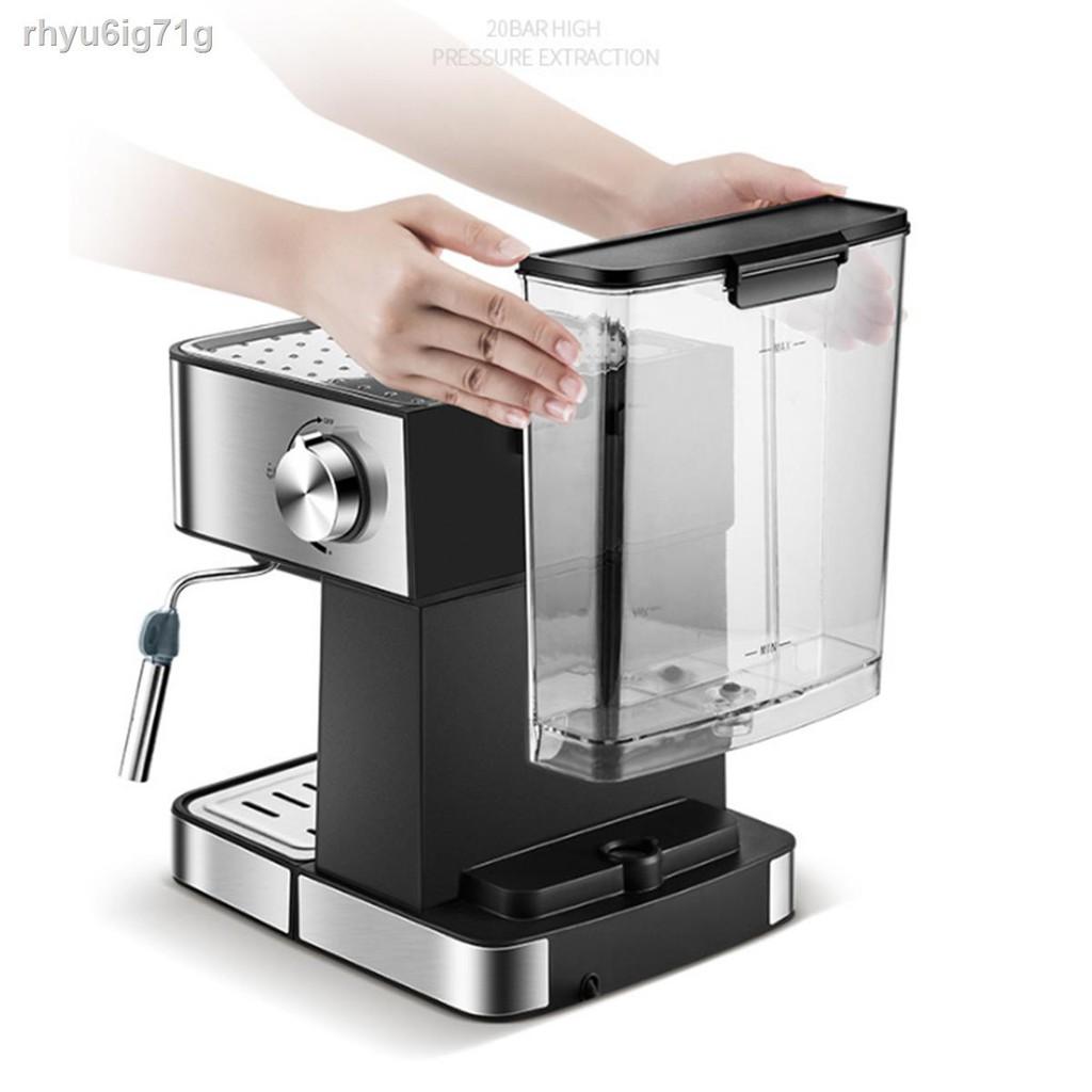 ☼เครื่องชงกาแฟ เครื่องชงกาแฟเอสเพรสโซ การทำโฟมนมแฟนซี การปรับความเข้มของกาแฟด้วยตนเอง เครื่องทำกาแฟขนาดเล็ก เครื่องทำกา