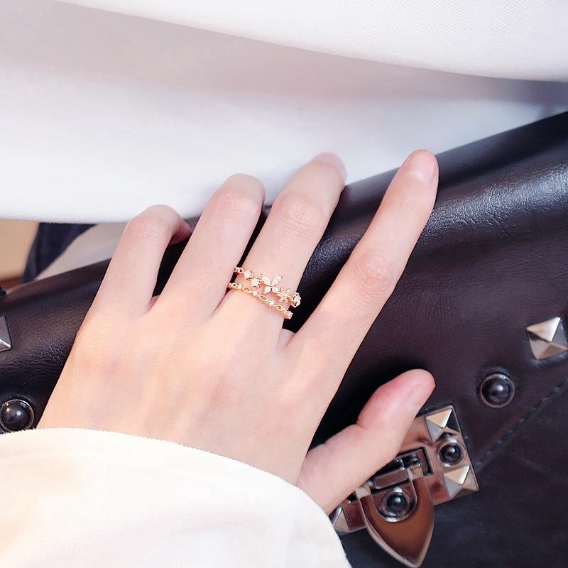 5 Pcs//Set New Women Girls Rhinestone Wedding Finger Knuckle Tail Rings Jewelry