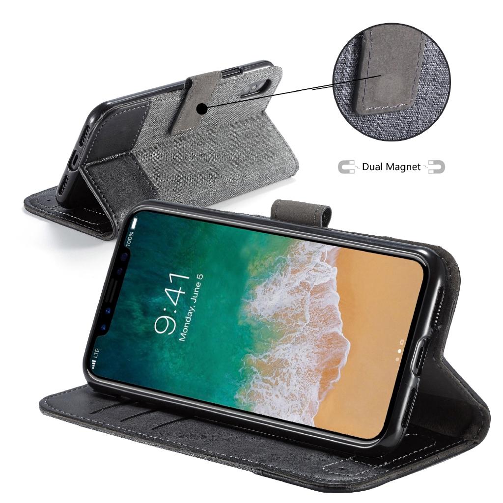 Casing Flip Case Kulit PU untuk Samsung Galaxy A3 A5 A7 2017 A6 A8 Plus A9 J6 J8 J2 Pro 2018 Case