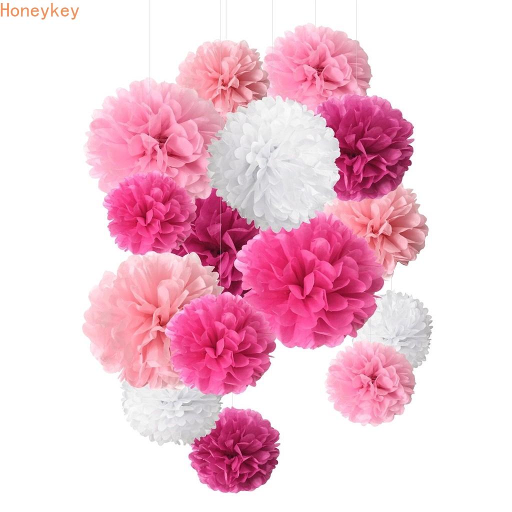 1PC 10/'/' Tissue Paper Pom Poms Flowers Balls Wedding Party Home Birthday Decor