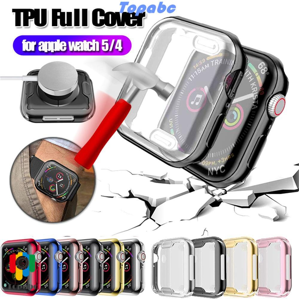 📞TOP💻 Ultra thin for Apple Watch 5 4 Clear Screen Protectors Electroplate TPU Case New Slim Full Cover Soft iWatch 40mm 44mm/Multicolor