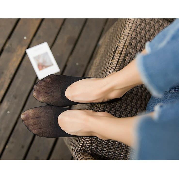 ♂ถุงน่องเท้า ถุงเท้าคัชชู ถุงเท้าเนื้อถุงน่อง มีซิลิโคนกันลื่น กันรองเท้ากัด❦