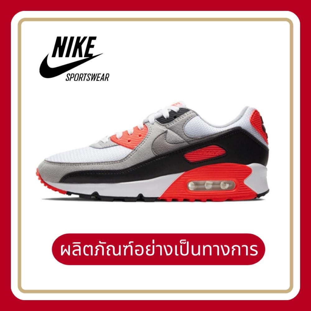 จัดส่งฟรีของแท้อย่างเป็นทางการNike Air Max 90 รองเท้าผู้ชาย รองเท้าสตรี รองเท้าลำลอง แฟชั่น การทำให้หมาด ๆ รองเท้ากีฬา ห