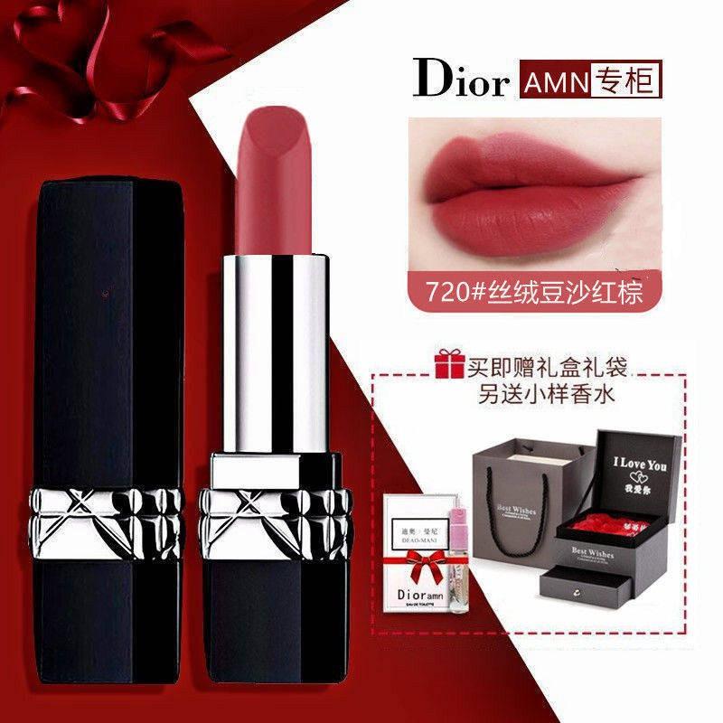 lips ของแท้ DIOR Diormani Flame Blue Gold Lipstick 999 Matte Moisturizing Lipstick ของขวัญวันวาเลนไทน์ 3.5g