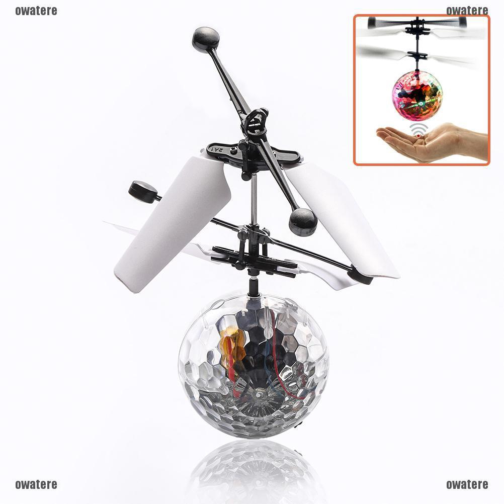 Electric RC Flying Ball Infrared Induction Aircraft LED Flash Light Kids Toy Hot
