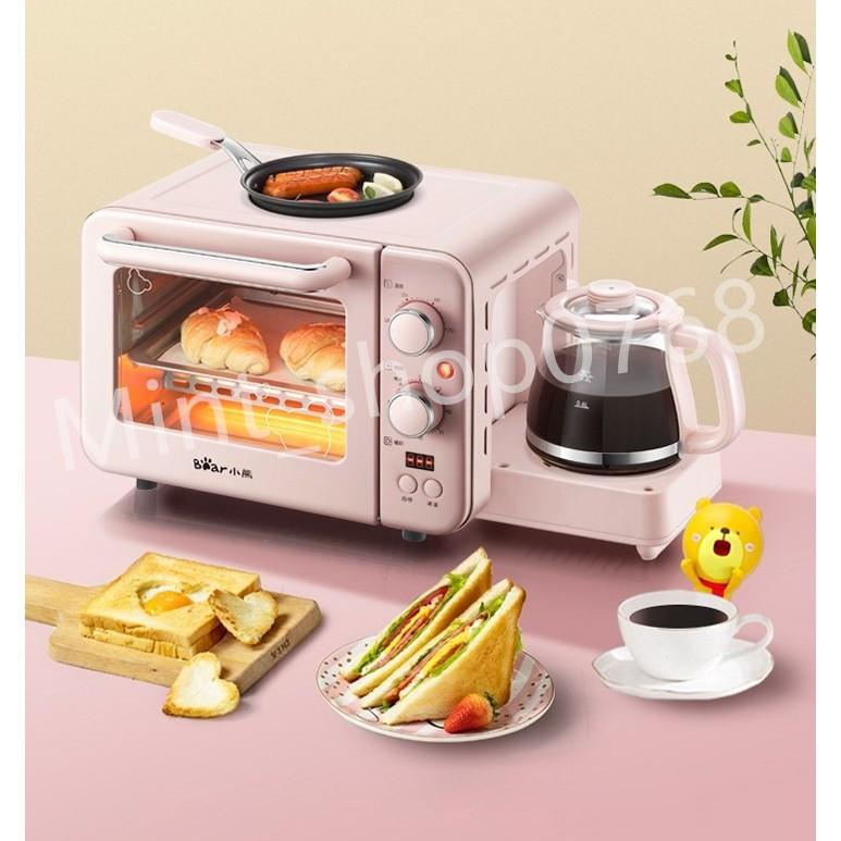 เครื่องไมโครเวฟ เครื่องทำกาแฟ ทำเมนูอาหารเช้า 3IN1***สินค้าพร้อมส่ง***