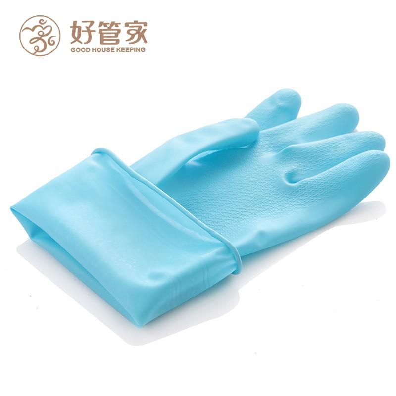 ถุงมือล้างจานแม่บ้านอย่างดียางบางพลาสติกกันน้ำและทนทานน้ำยาล้างจานซักผ้าทำความสะอาดงานบ้าน