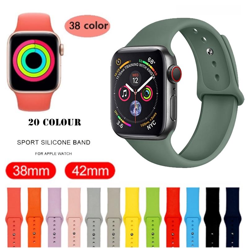 [สายนาฬิกาเท่านั้น] สร้อยข้อมือสายนาฬิกาสำหรับ Apple Watch สายนาฬิกาสำหรับกีฬา 38mm 42mm 40mm 44mm Series 3 Series 4 Series 5 Applewatch นาฬิกาข้อมือwatch สายนาฬิกาข้อมือapplewatch Applewatchseries3
