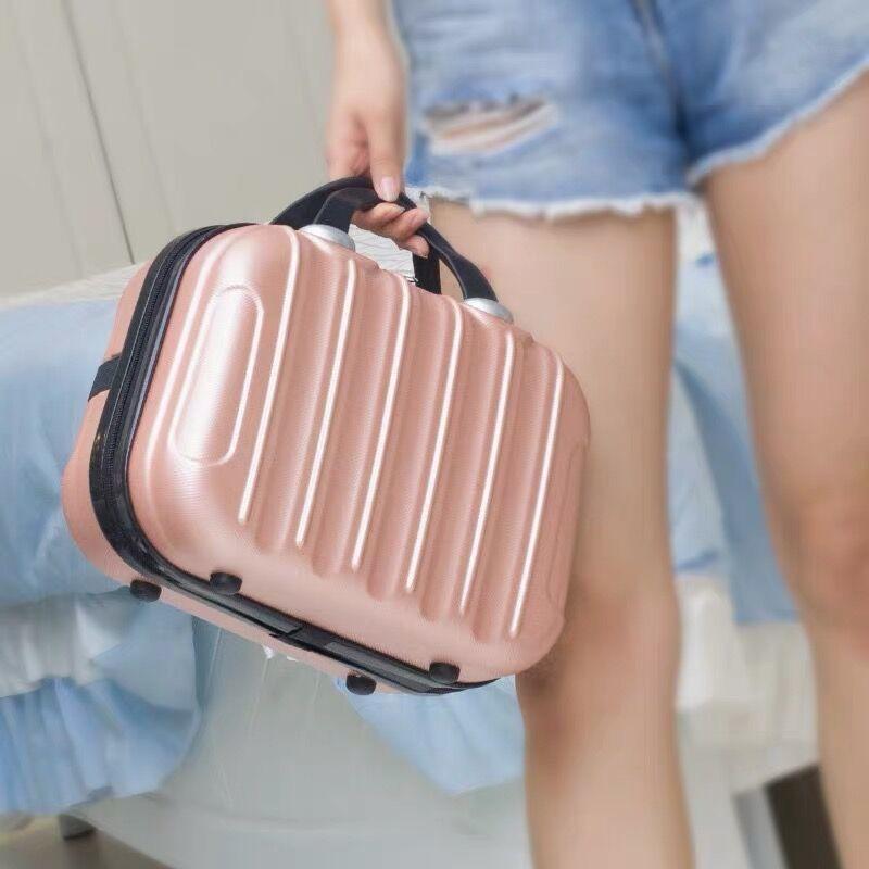 ❦กระเป๋าเดินทางขนาดเล็ก 14 นิ้ว กระเป๋าเครื่องสำอางแบบพกพาอเนกประสงค์ กระเป๋าเดินทางขนาดเล็กน้ำหนักเบา