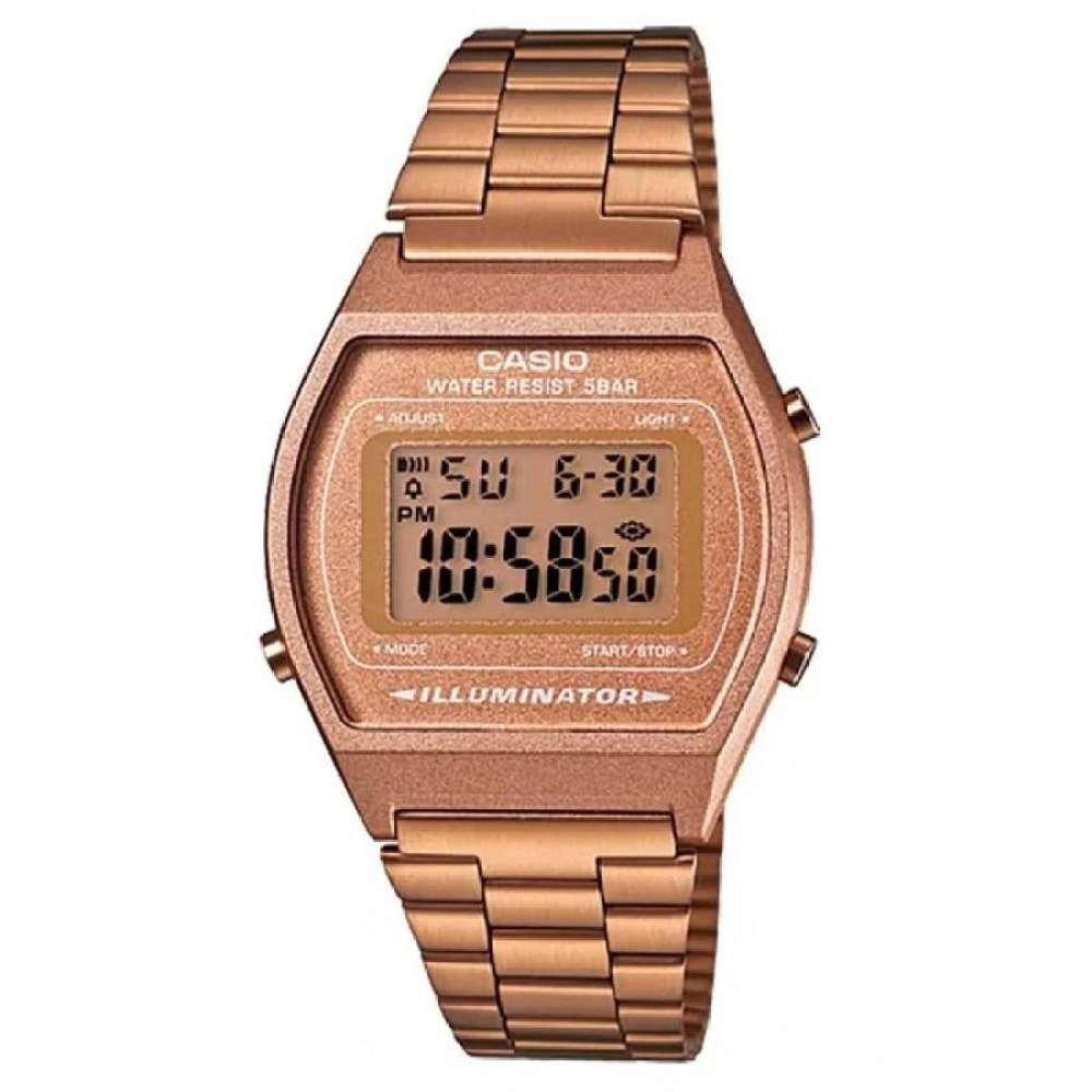 จัดส่งฟรีCasio Standard นาฬิกาข้อมือผู้หญิง สายสแตนเลส รุ่น B640WC,B640WC-5A,B640WC-5ADF - สีพิงค์โกลค์