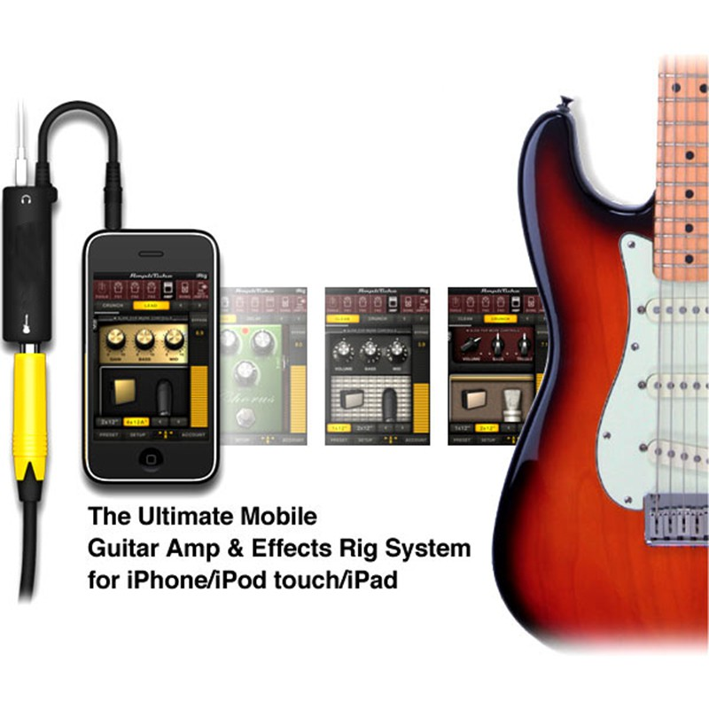 iPod Touch and iPad iRig Guitar Interface New For iPhone