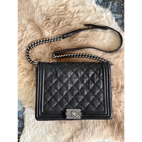 กระเป๋า Chanel Boy10 Glazed Calf RHW มือสองของแท้