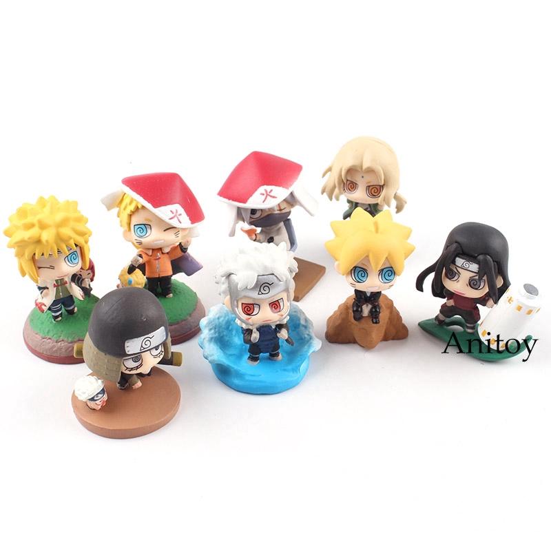 Naruto Shodai Senju Hiruzen Minato Tsunade Kakashi Action Figure Toy Boruto