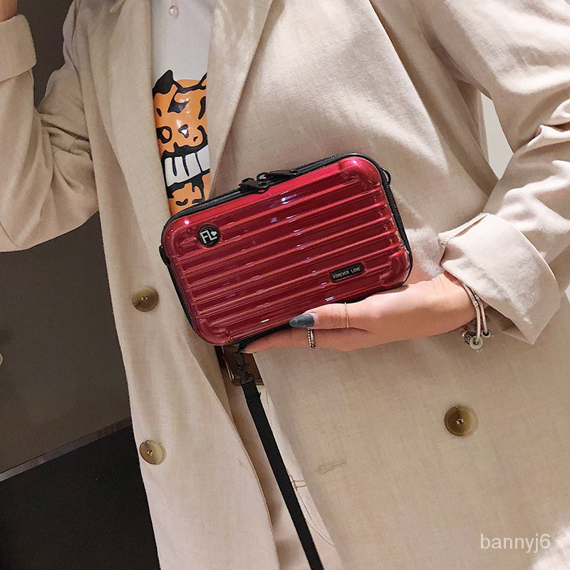 กล่องหนังกระเป๋าใบเล็ก card reader มินิกระเป๋าเดินทางกระเป๋าเดินทางเคสแบบแข็งกระเป๋าสี่เหลี่ยมใบเล็กกระเป๋าสะพายหญิงสะพา
