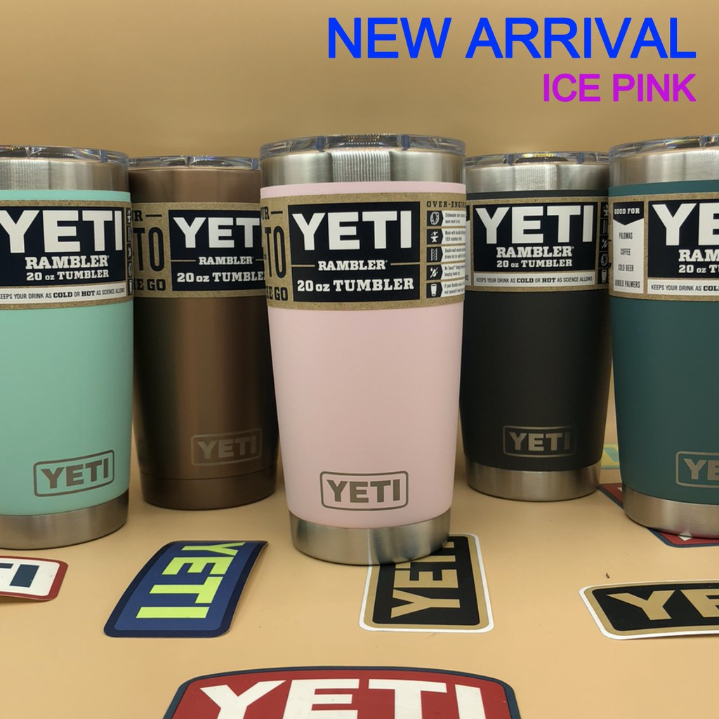 แก้วเยติของแท้ 💯% • YETI RAMBLER 20oz ™ ( แก้วเยติ • ของแท้ • ฝาสไลด์แม่เหล็ก )  🛵🎁 [ สินค้าพร้อมส่ง ]