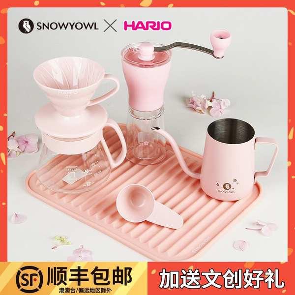 กาแฟดริปสกัดเย็น Hario ญี่ปุ่นสีเย็นหม้อแขวนหูหยดน้ำแข็งหยดมือทำหม้อกาแฟชุดเครื่องใช้ในการรวมกัน V60 ถ้วยกรอง