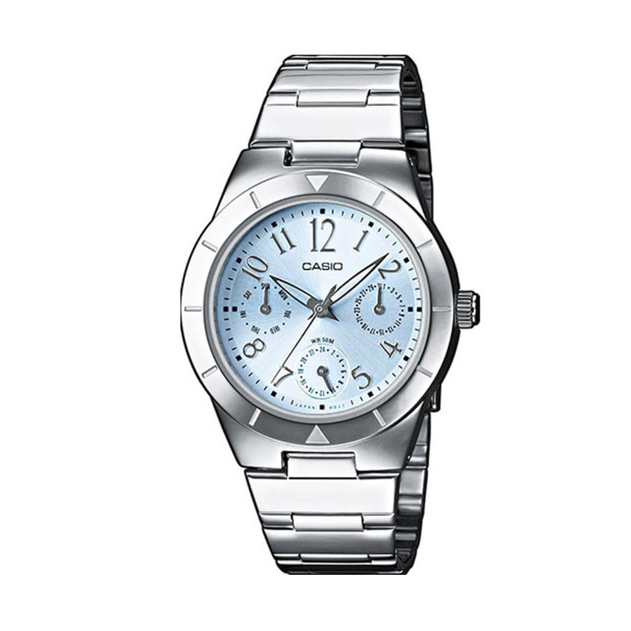 Casio Standard นาฬิกาข้อมือผู้หญิง สายสแตนเลส รุ่น LTP-2069D-2A2 - สีเงิน