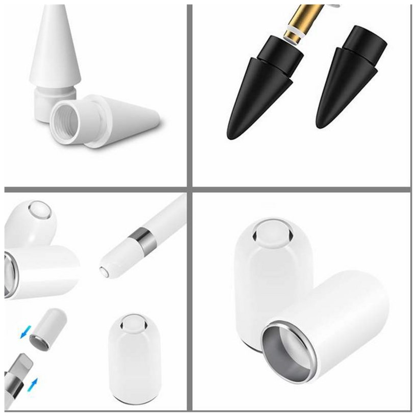 Replacement Tip & Magnetic Pencil Cap Compatible For Apple