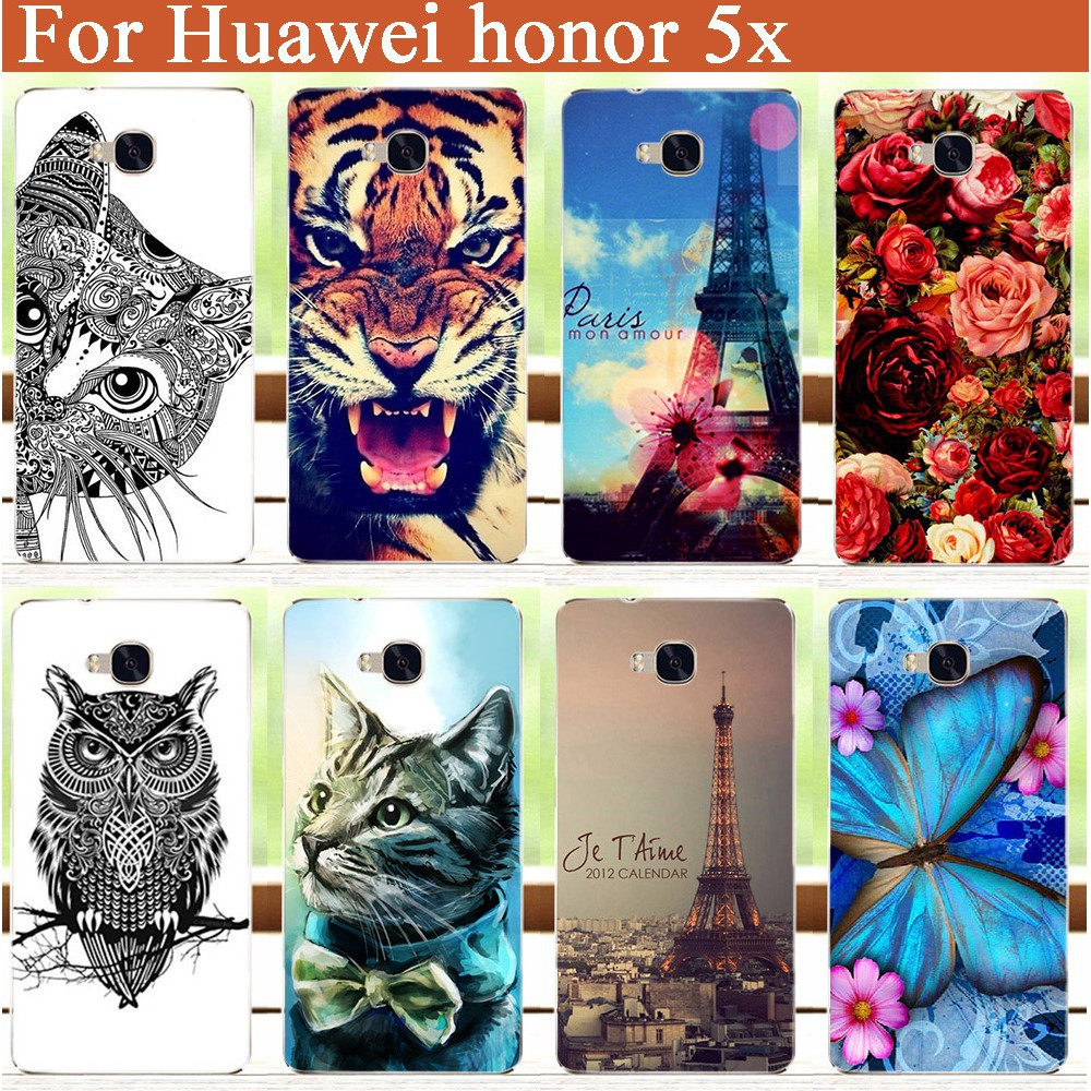 painting colored tiger lion owl flowers soft tpu phone case for DOOGEE F5  cover  f5d1bb299658