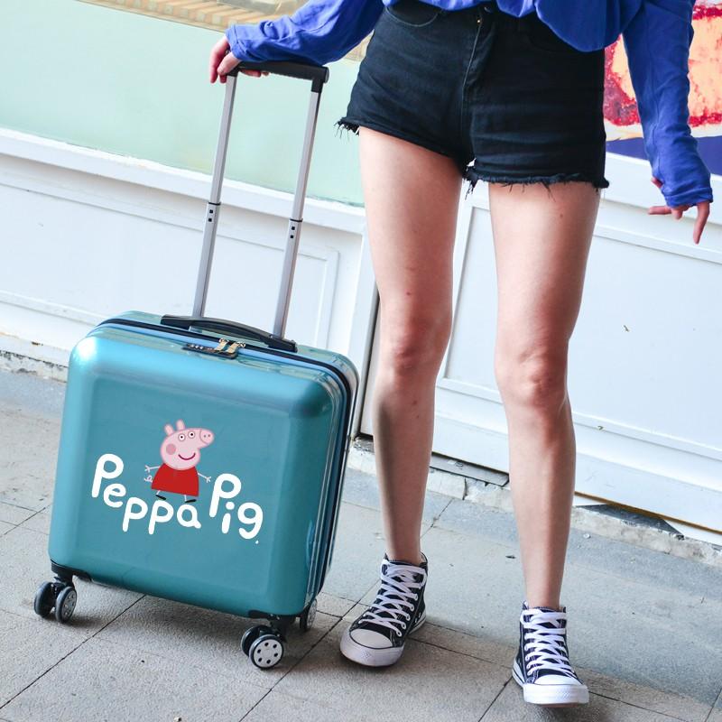 ✮☽ กระเป๋าเดินทางพกพา  กระเป๋ารถเข็นเดินทางกระเป๋าเดินทางขนาดเล็ก 18 นิ้วหญิงการ์ตูนเด็กกระเป๋าเดินทางมินิกระเป๋าเดินทาง