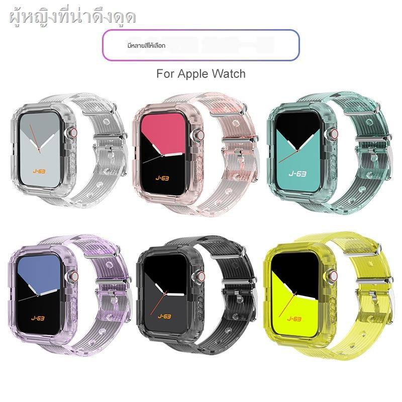 Air podsFashion tpu caseเคส for Apple AirPods Applicable iwatch6 Apple Watch SE strap applewatch5 integrated protective shell 4/3/2 generation glacier limited one-piece female tide 40 silicone 44mm personalized sports