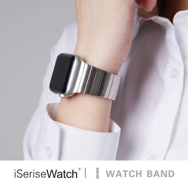 สาย applewatch เหมาะสำหรับ Apple Watch รุ่นที่ 4 สายนาฬิกา iwatch6 สร้างสรรค์ applewatch5 / SE สายนาฬิกาแบบเรียบง่ายโซ่ส