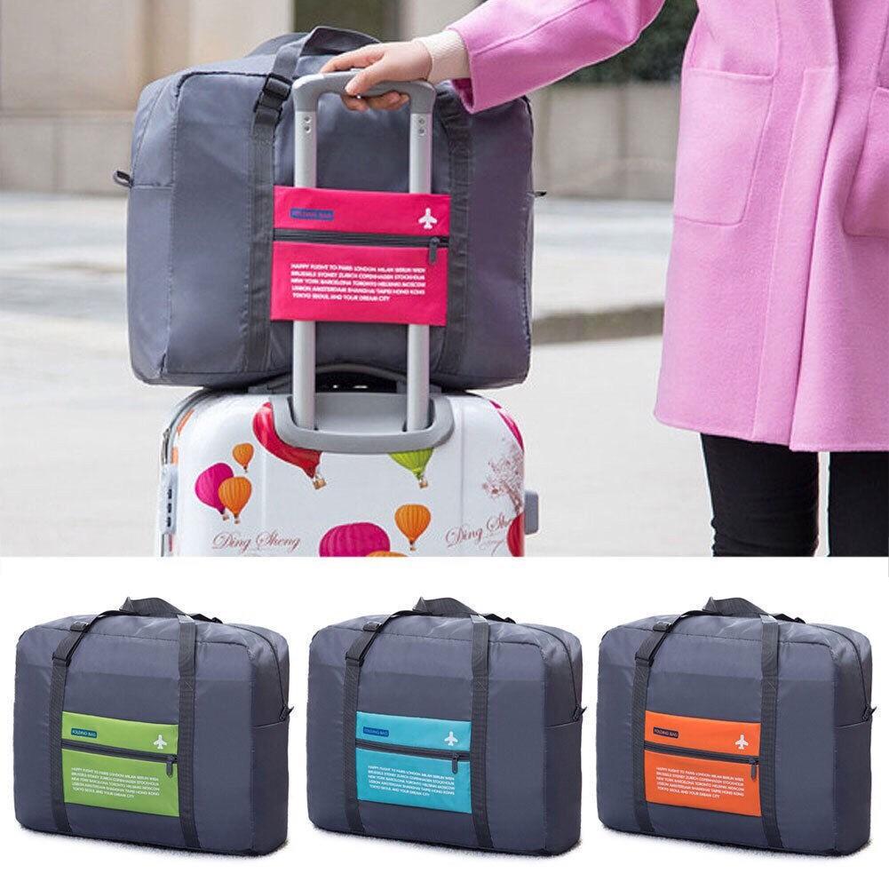SALE !! กระเป๋าเดินทาง พับได้ กระเป๋าเสริม กระเป๋างอก ยึดกับกระเป๋าล้อลากได้