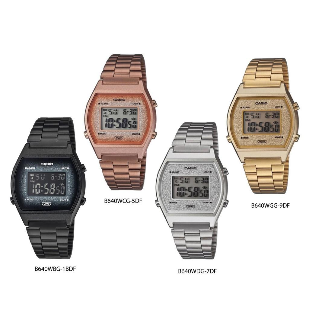 นาฬิกาข้อมือ Casio รุ่น B640 (B640WBG-1B,B640WCG-5,B640WDG-7,B640WGG-9)