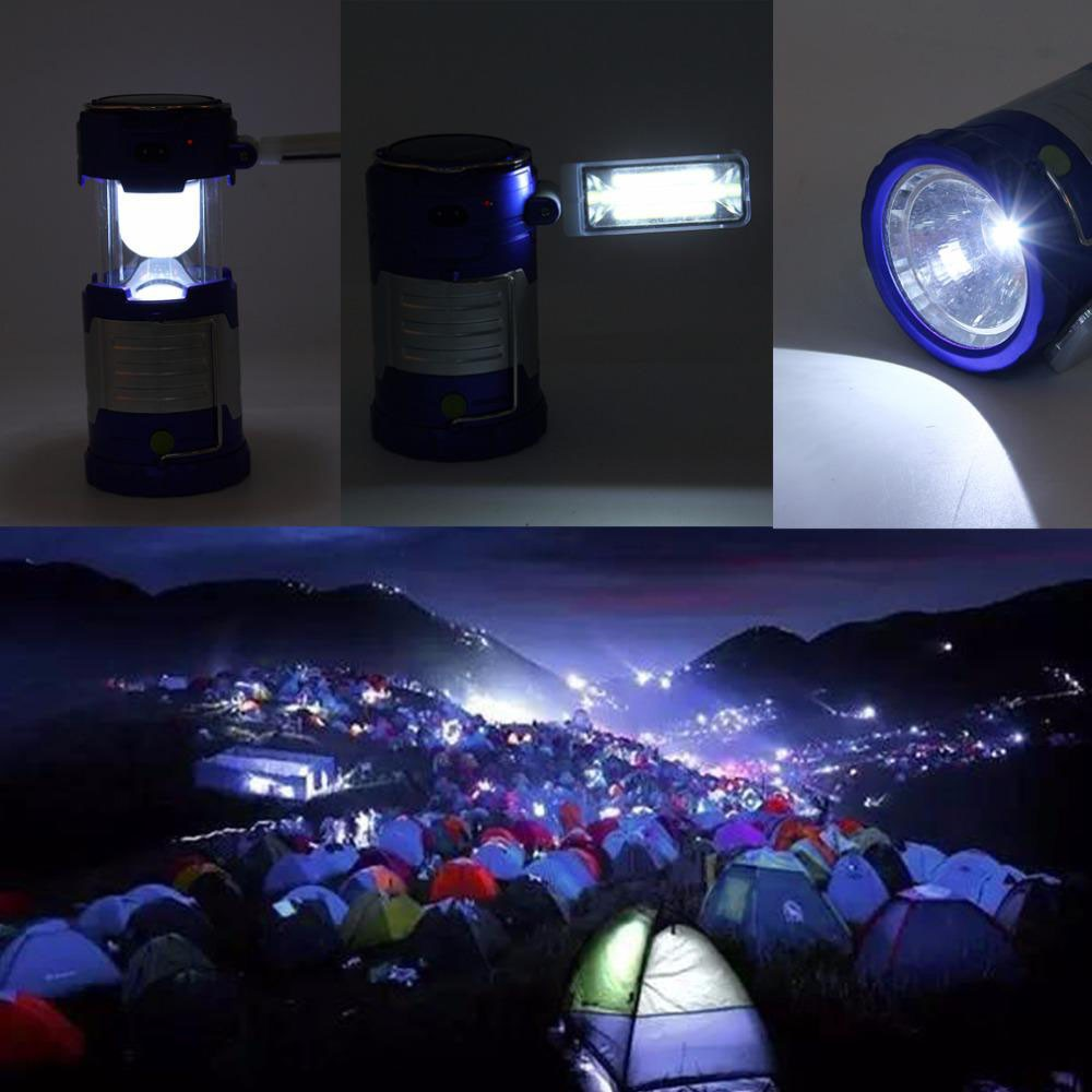 USB Rechargeable LED For Camping Tent Lantern Bright Night Light Lamp Outdoo