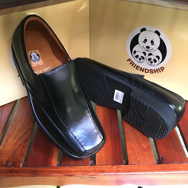 **ซื้อ 1 แถม 1 คละแบบได้**รองเท้าหนังแท้ Friendship shoes รุ่น 3851-6013 รองเท้าคัชชูหนังแท้ หัวตัด หน้าเท้ากว้าง
