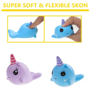 Cute Unicorn whale stress relief soft slow rebound fun toys