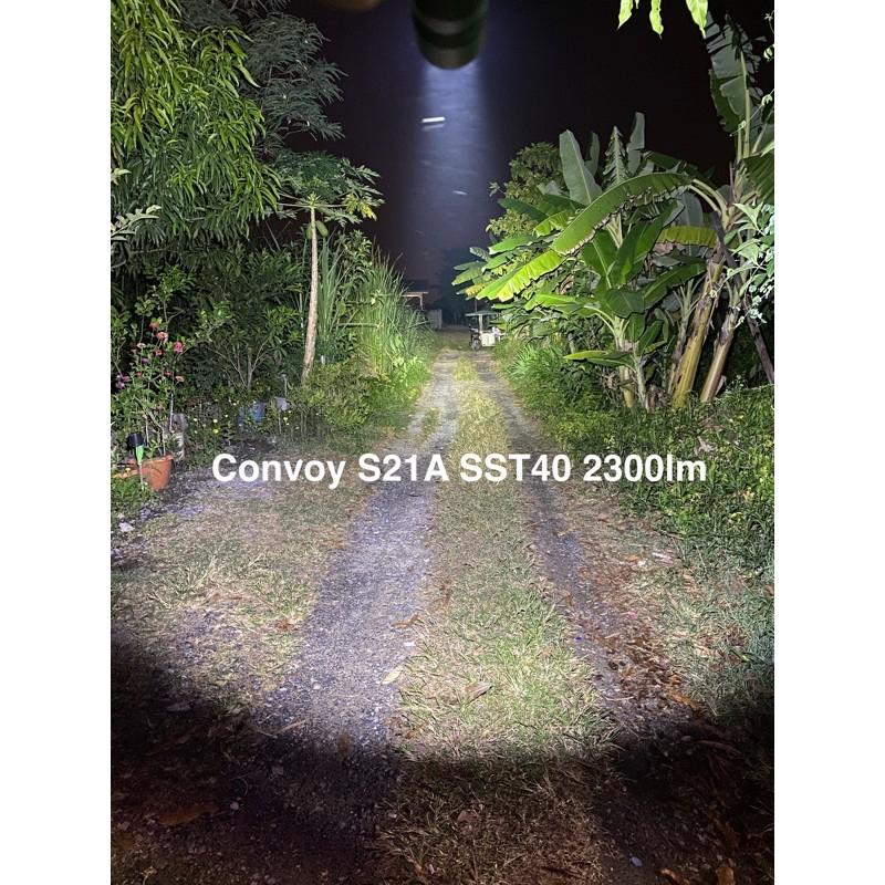ไฟฉาย Convoy S21A 2300lm สีเทา 12 กรุ๊ปโหมด pviQ
