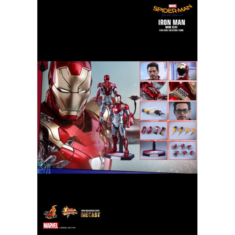 HOT TOYS MMS427D19 SPIDER-MAN : HOMECOMING -  IRON MAN MARK XLVII (REISSUE)