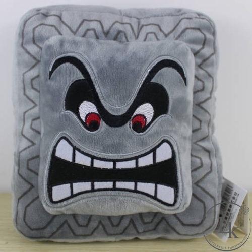 Super Mario Bros Thwomp Dossun Stuffed Soft Plush Pillow Cushion 9/'/'