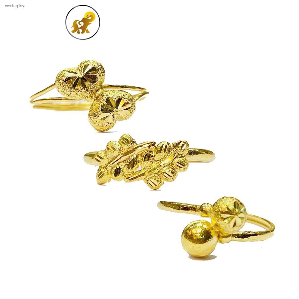 ราคาต่ำสุด◘๑Flash Sale แหวนทอง 1 กรัม แฟนซีไขว้ หนัก 1.0 ทองคำแท้ 96.5% มีใบรับประกัน