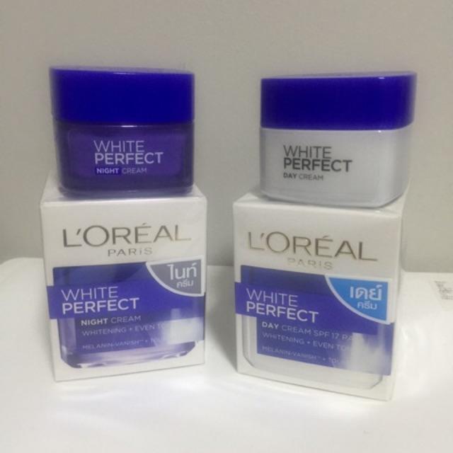 ลอรีอัล ไวท์ เพอร์เฟ็คท์ เดย์ครีม แอนด์ ไนท์ครีม Loreal White Perfect Day and Night Cream Exp