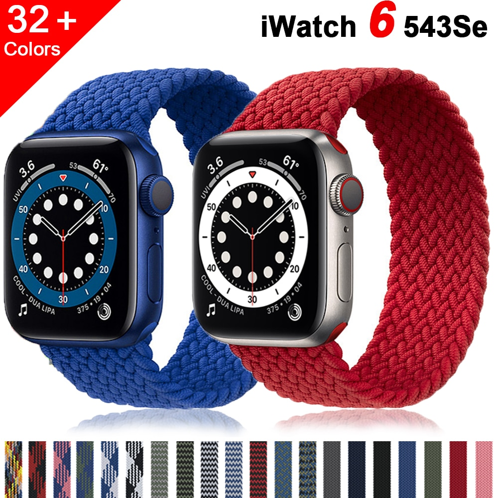 Braided Solo Loop strap For Apple watch band 44mm 40mm iWatch 38mm/42mm FABRIC watchband bracelet applewatch series 6 5