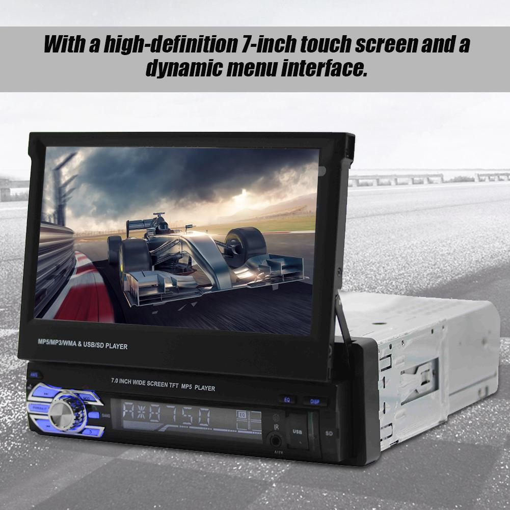 Screen Touch Stereo-Single Telescopic MP5-SWM9601 GPS Retractable Car  Stereo Car 7In Din