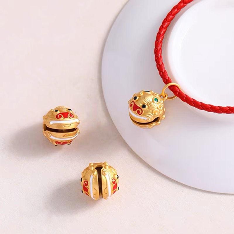 ราคาไม่แพงมาก◕✔❏Ancient Golden Vietnam ทรายทอง Exorcism Bell จี้จะแหวนขนส่ง Lucky จี้ DIY สร้อยข้อมือสร้อยคออุปกรณ์เสริม