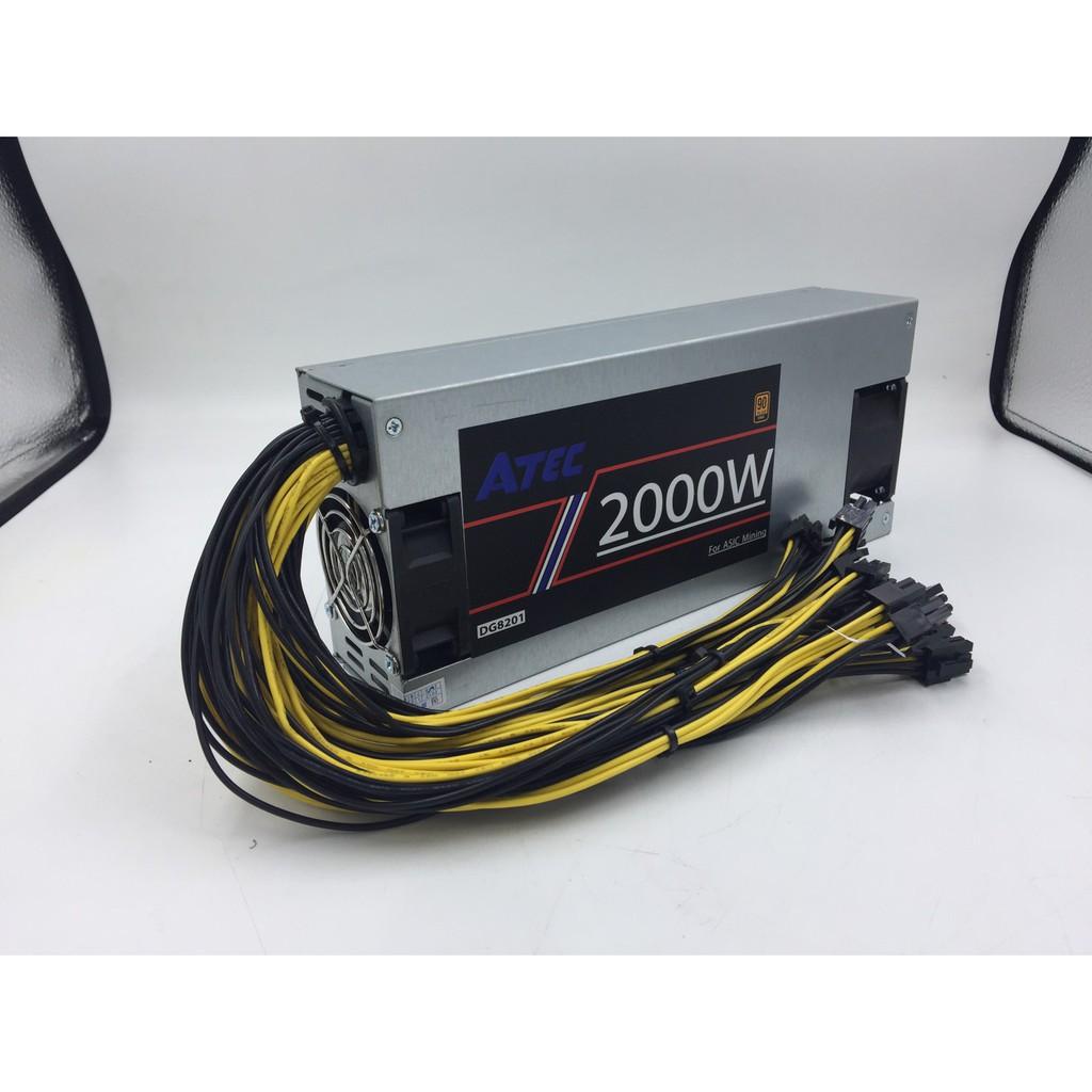 Mojojojoe : Power Supply สำหรับเครื่องขุดเหรียญ คริปโตเคอเรนซี่  ASIC (For Cryptocurrency Miner)  2000 Watt