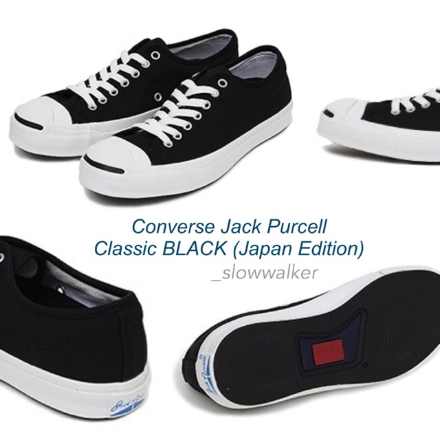 brand new 7bf35 cc6bf CONVERSE JACK PURCELL JAPAN EDITION BlACK   Shopee Thailand