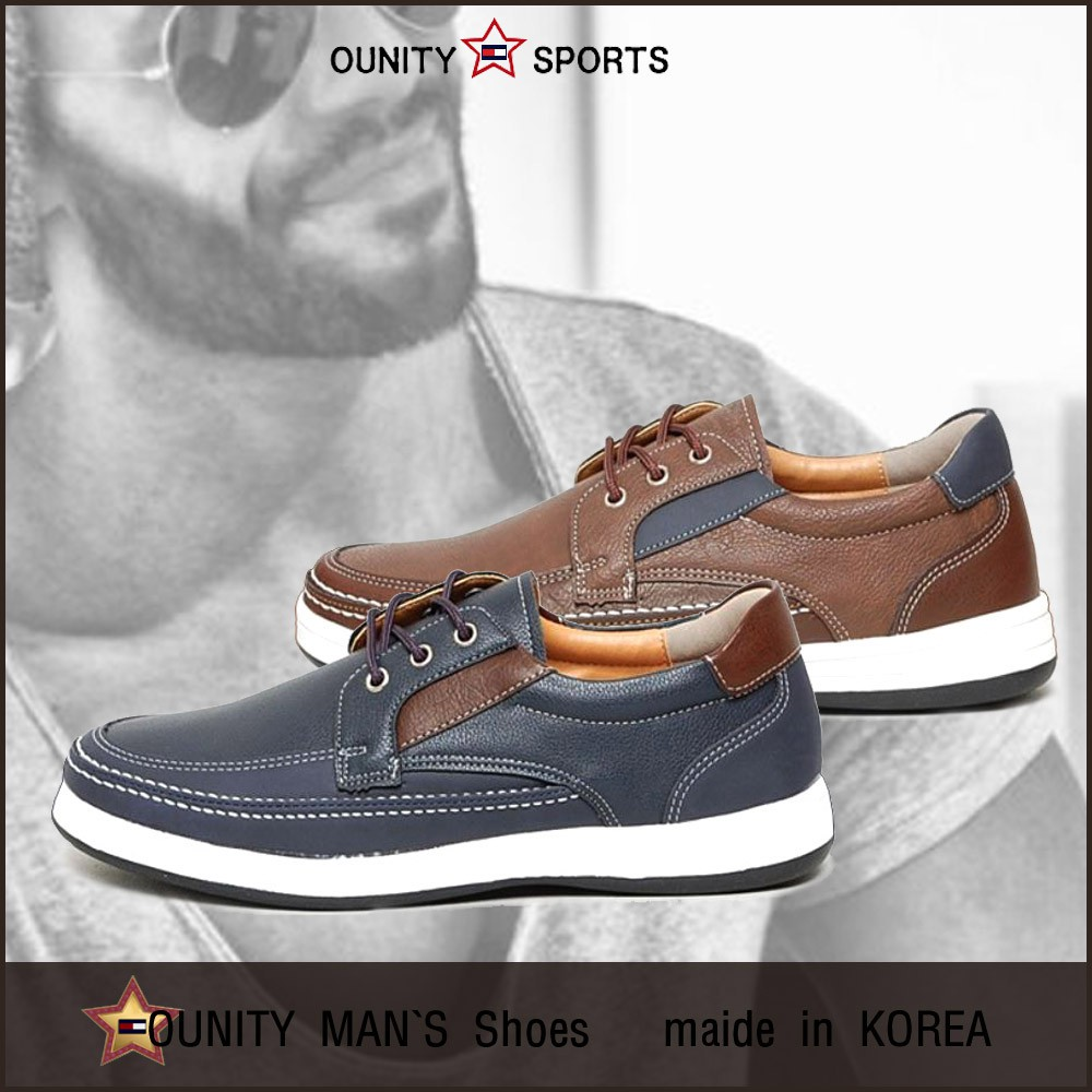 รองเท้าคัชชูหนัง ผูกเชือก สไตล์เกาหลี สำหรับผู้ชาย 3 ซม. YMRUMEN3목-NAMSENG.3CM