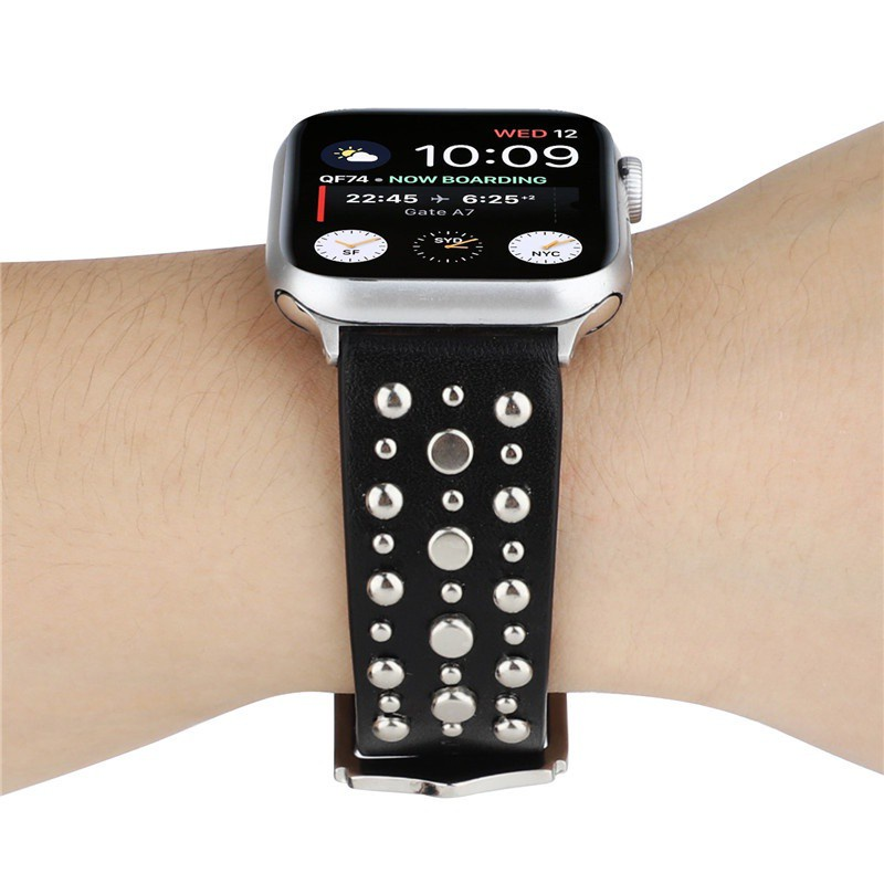 สายนาฬิกาข้อมือสายหนังวัวแท้สําหรับ Applewatch Applewatch