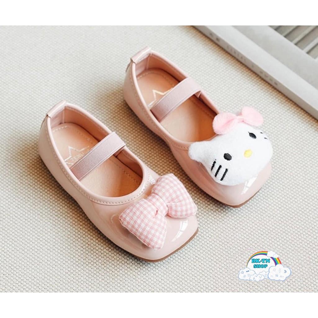 รองเท้าคัชชูเด็ก คิตตี้ รองเท้าเด็ก รองเท้าหนังแก้วหัว3D QRqg1