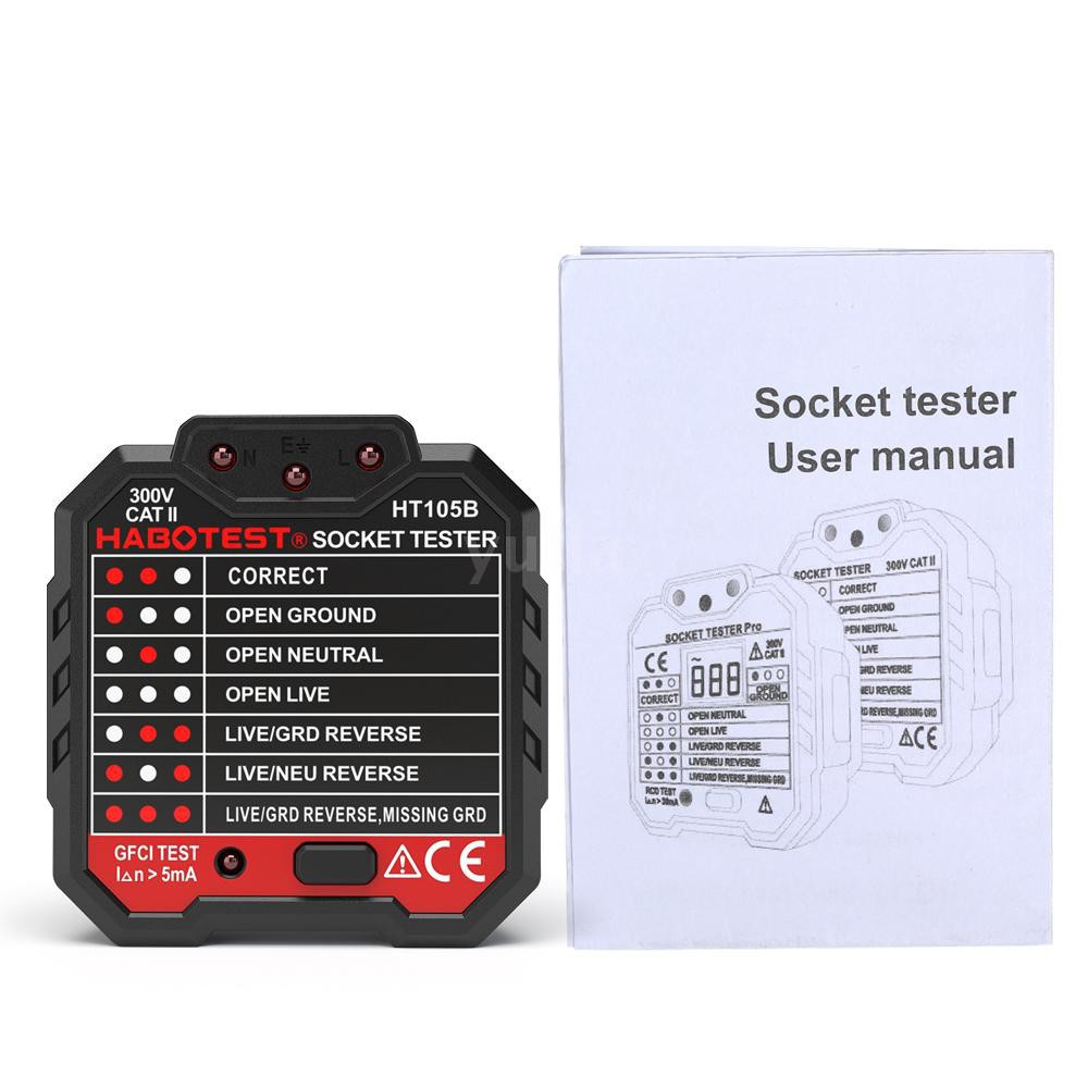 HABOTEST Advanced RCD Electric Socket Tester Automatic
