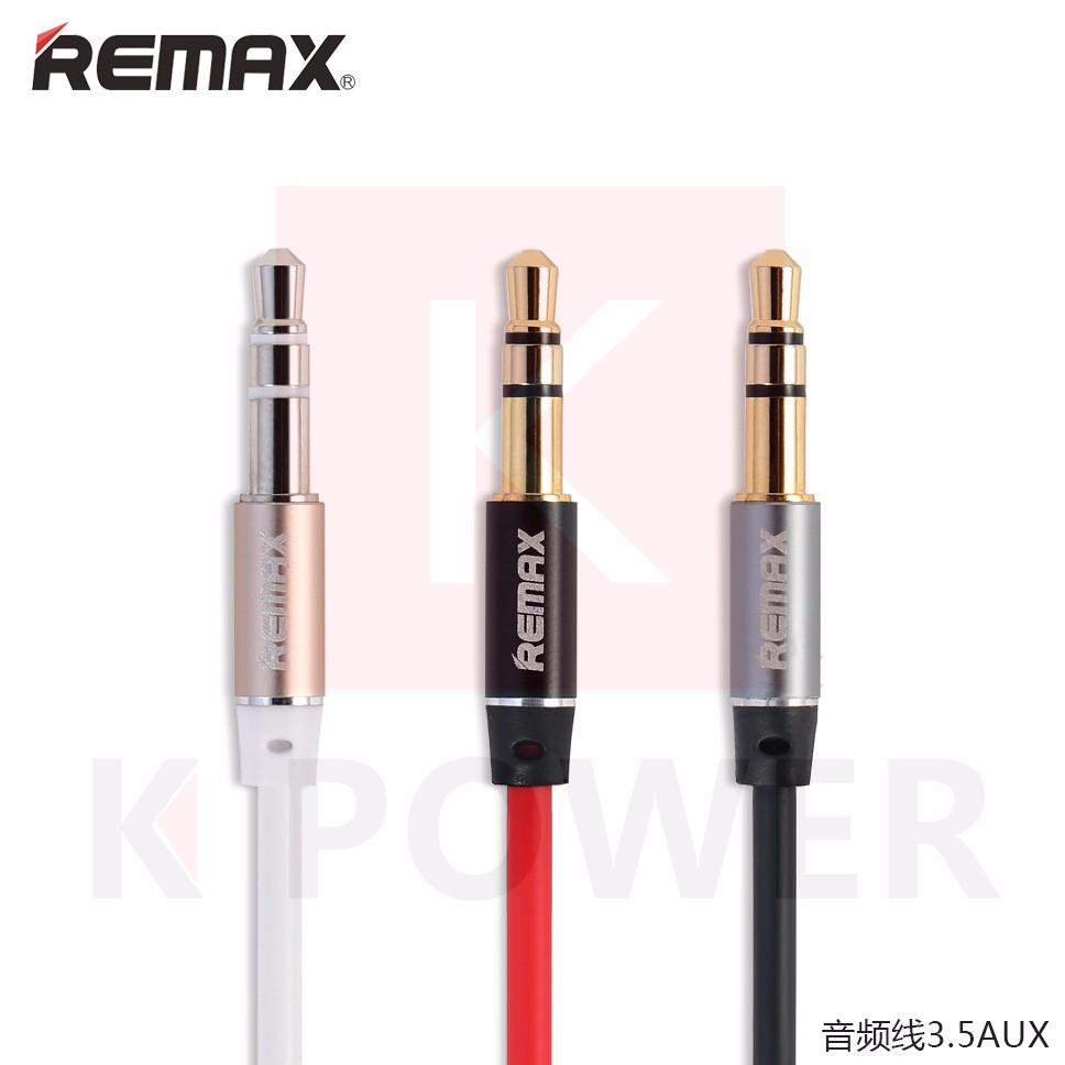 Remax สาย Audio Rl-L100 / Aux Cable Rl - L100 เสียบเชื่อมต่อกับตัวอุปกรณ์เครื่องเล่นหรืออุปกรณ์เครื่องเสียงอื่นๆ.