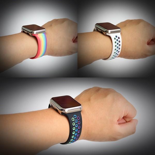 applewatch  สายนาฬิกา  สายapplewatch สายนาฬิกาแฟชั่น สายนาฬิกาApplewatch 🔥สาย Apple Watch Sport Pride Edition มี29 สี🔥